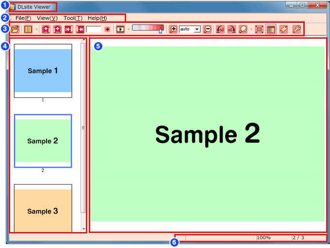 DLsite Viewer main screen